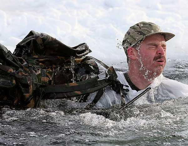Royal Marines conducting Arctic training