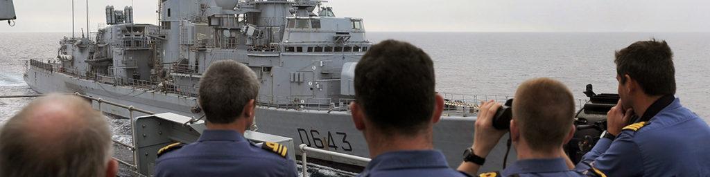 British warship at sea