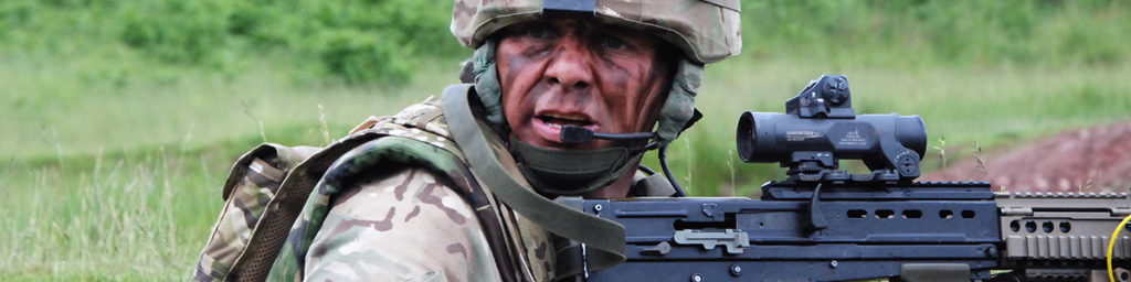 Close up of Army Reservist