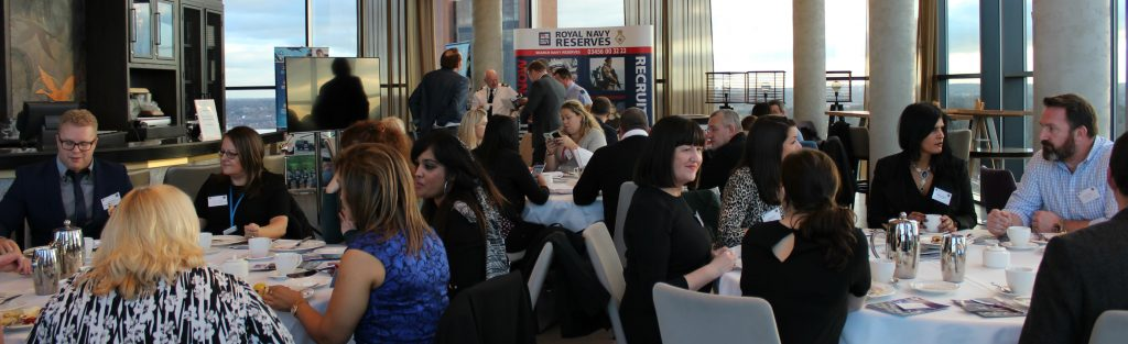 Afternoon tea armed forces networking event