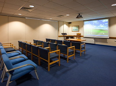 A presentation suite available for hire at HMS Forward