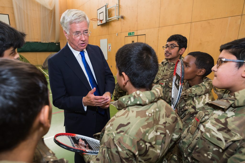 Defence Secretary visits new CCF unit at Rockwood Academy