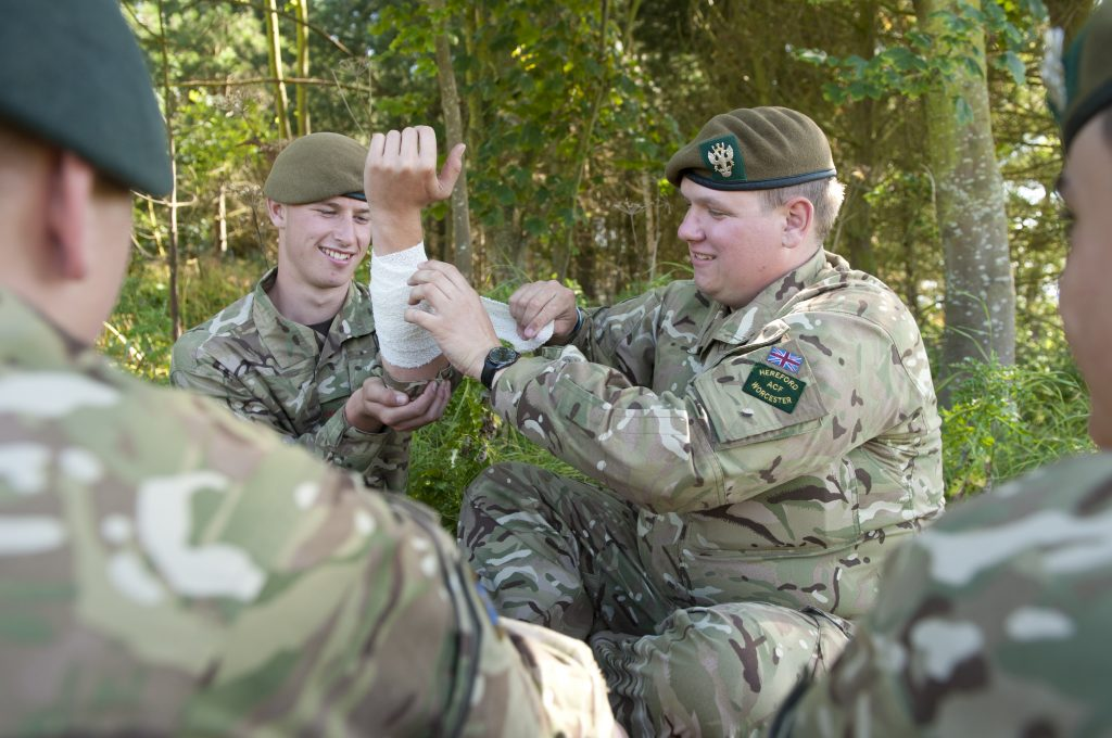 Hereford and Worcester Army Cadet Force annual camp at Altcar Training Camp