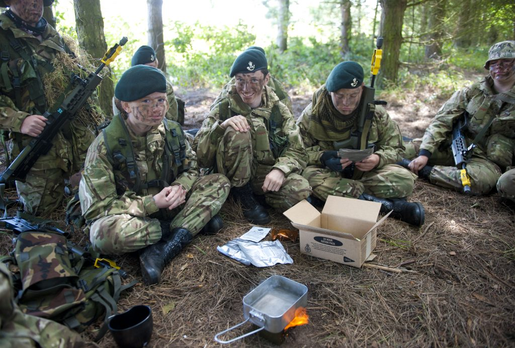 Shropshire Army Cadet force on annual campo at Altcar Ranges