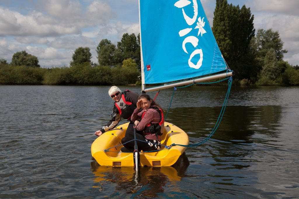 Cadets on a small sailing boat