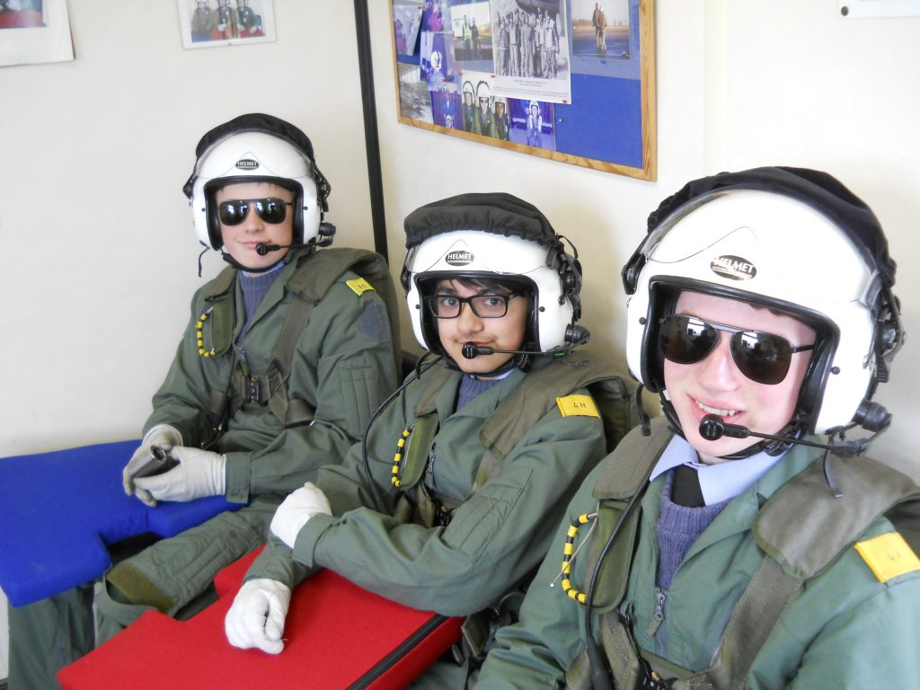 Warwick School CCF prepared for an Air Experience Flight