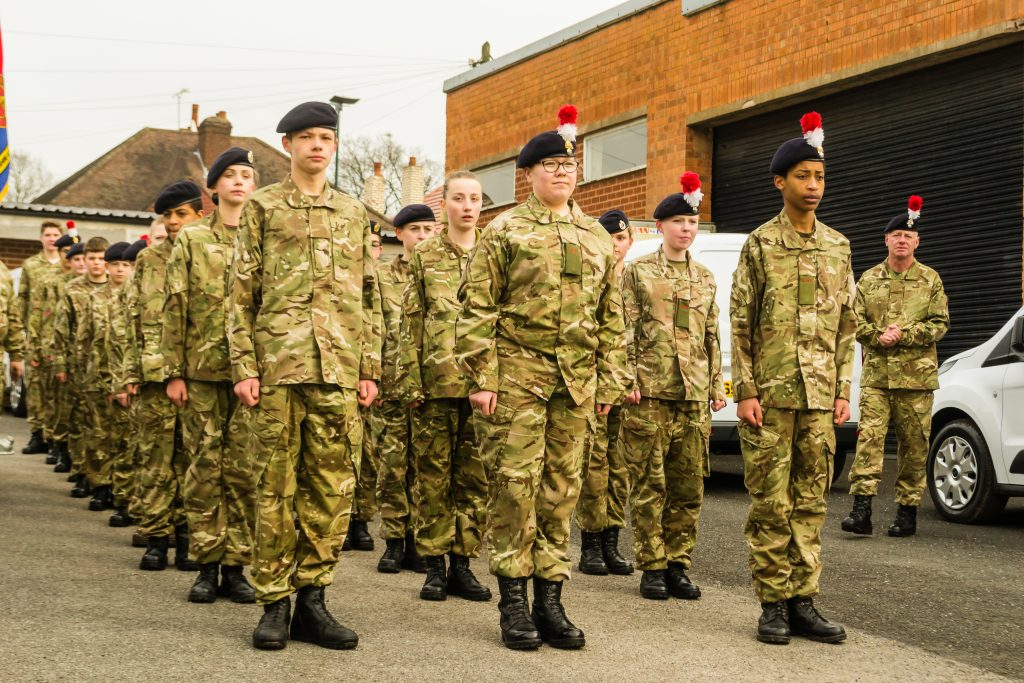 Army Cadets parading