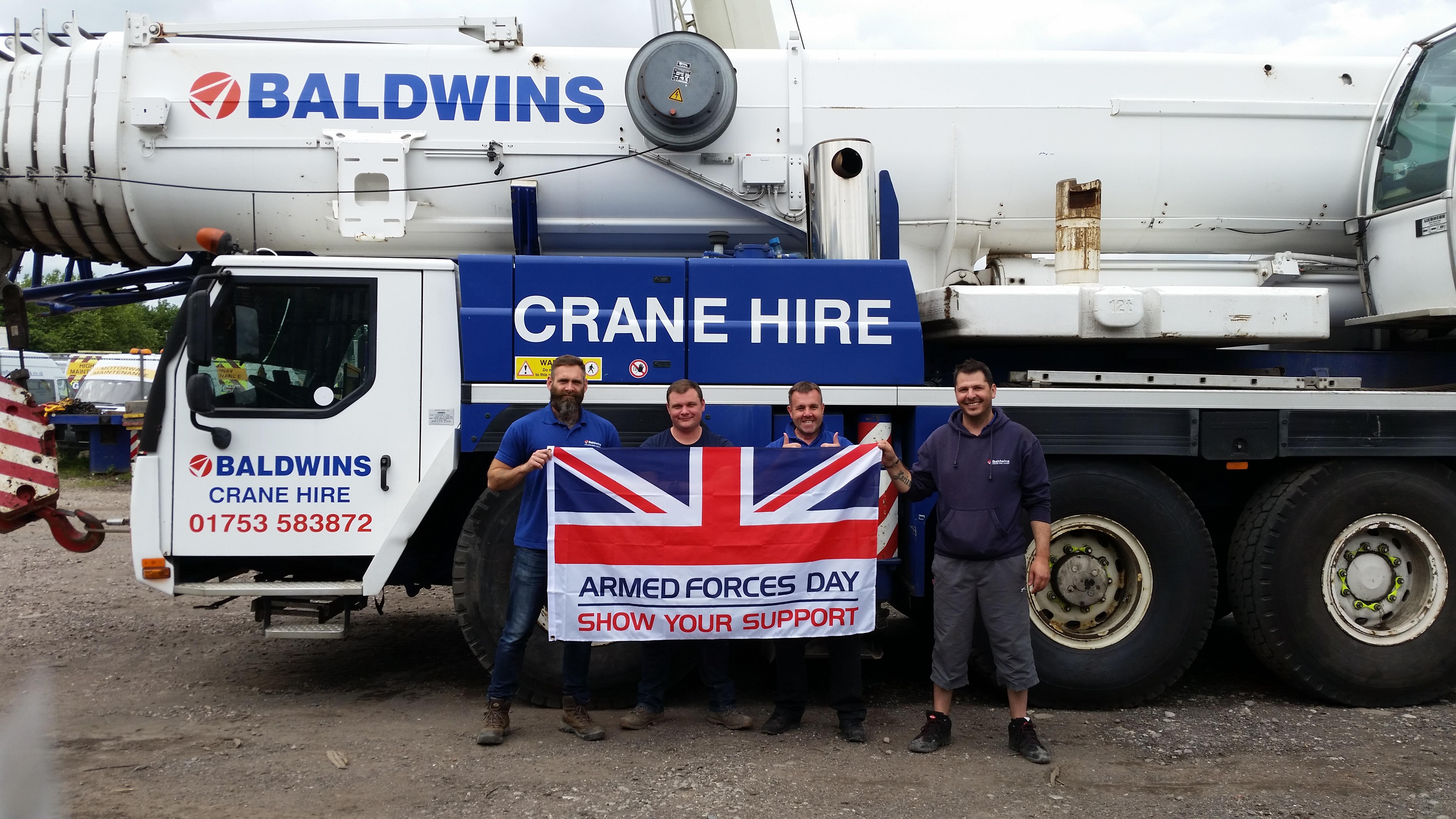 Baldwins Crane Hire Salute our Forces