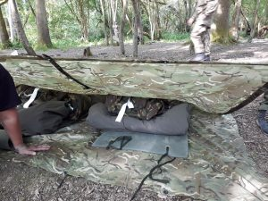 Bivvy and bed for the night