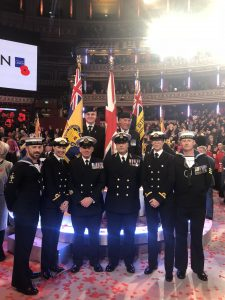 Royal Navy members at the Royal Albert Hall for the Festival of Remembrance
