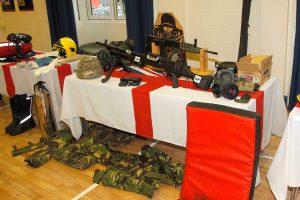HMS Forward exhibition table
