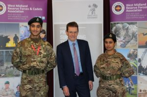 Mayor Andy Street with Cadets from Rockwood CCF