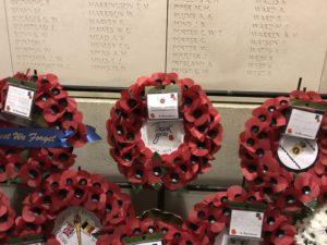 WM RFCA wreath laid at Menin Gate