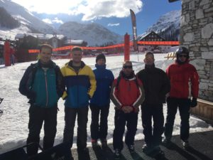 B Squadron Royal Yeomanry on the slopes