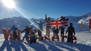 B Squadron Group Photograph by Val d'isere sign
