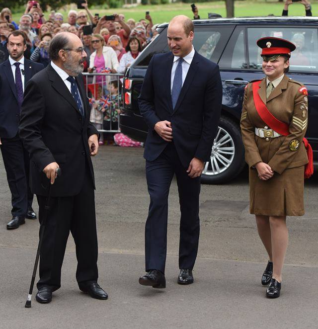 Lord Lieutenant Cadet accompanying Prince William on visit