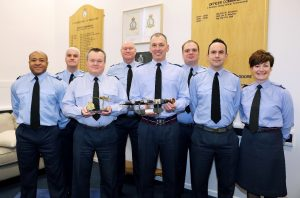 605 Squadron staff with both awards