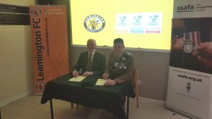 Leamington FC signing the Armed Forces Covenant