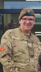 Dan Gale in ACF uniform