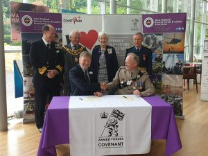 Armed Forces Covenant being signed