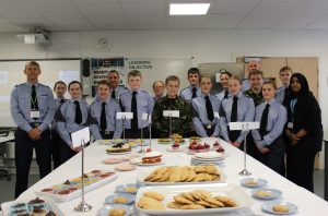 Cadets with their homemade baked goods