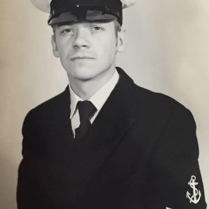 Steve Bland in the early years of his Naval career