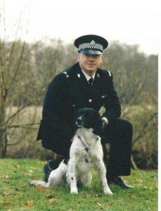 Steve Bland Police dog handler