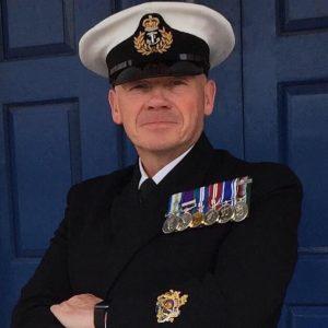 Steve Bland outside HMS Forward