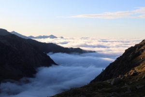 Above cloud level on the pyrenees