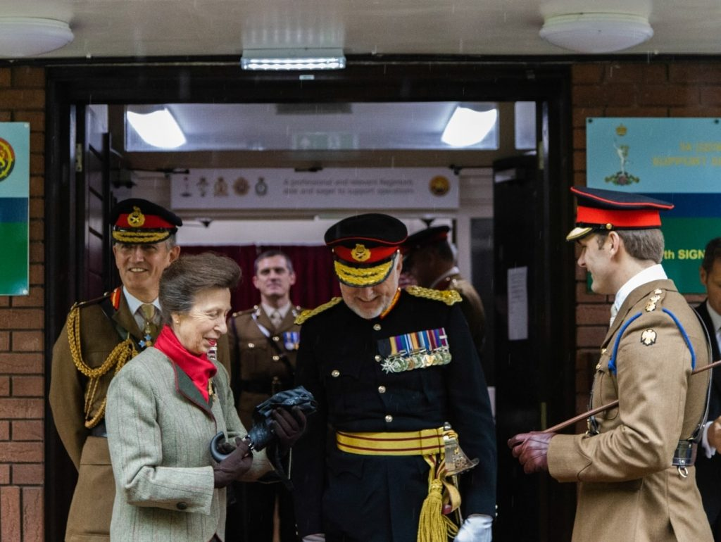 HRH departing the Regt following a great day and one that will live long in the memory