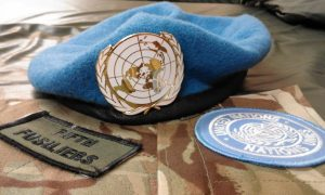 Blue Beret worn by UN soldiers