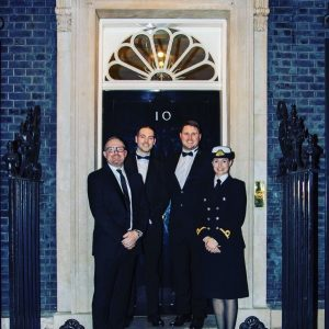 Hlafords staff outside Number 10