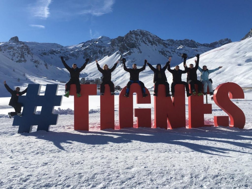 Officer Cadets enjoying their time in Tignes