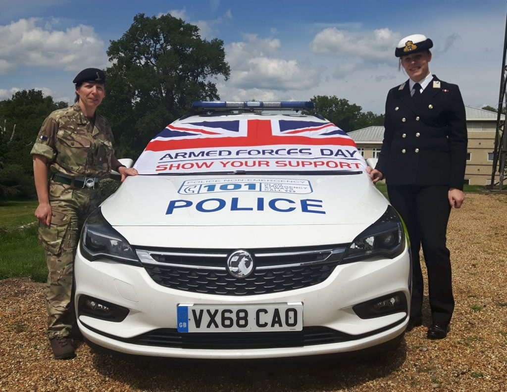 Reservists showing their support for Armed Forces Day