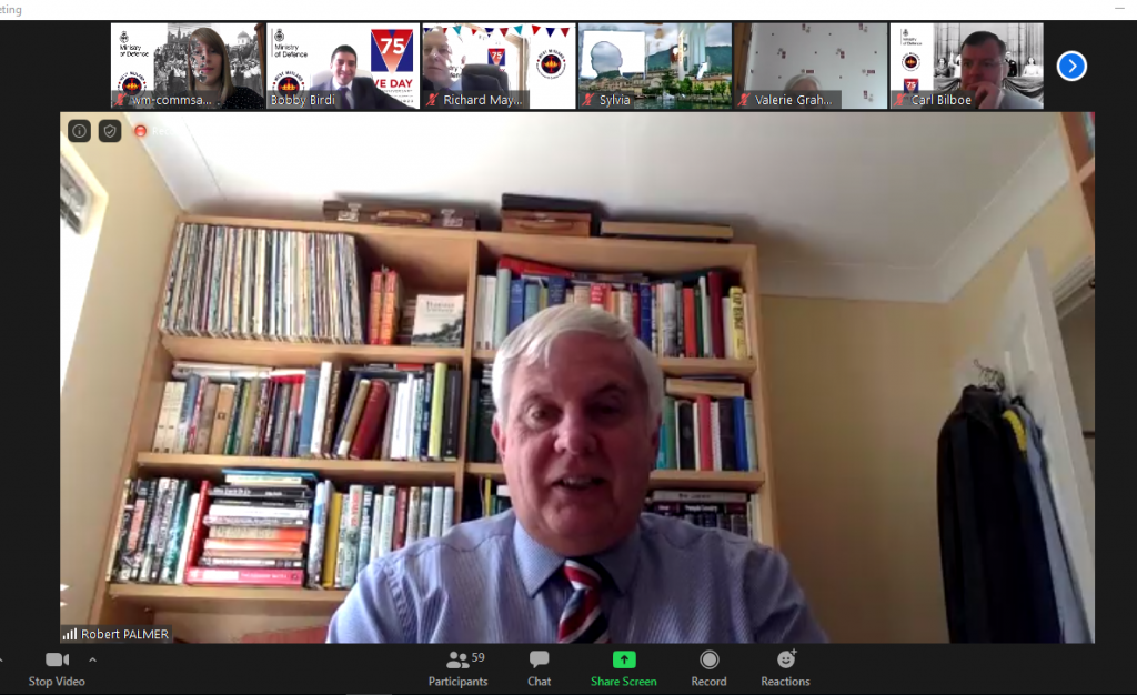 Robert Palmer speaking on Zoom