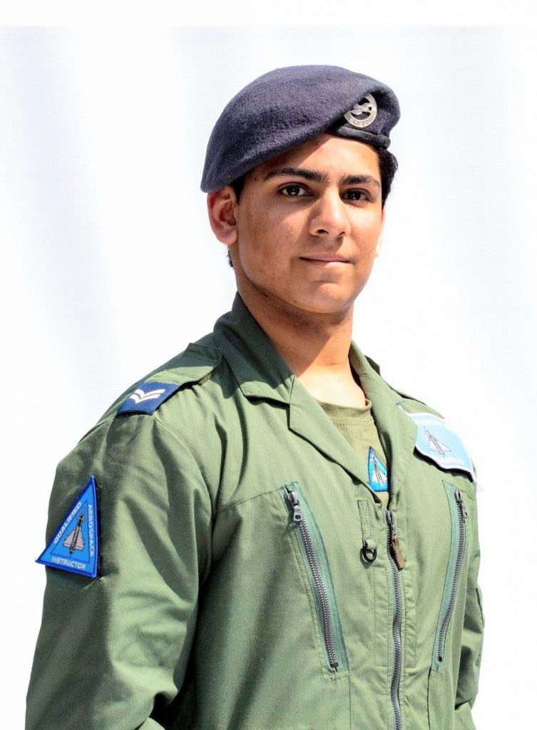 Cadet Corporal Zain Aslam portrait photograph