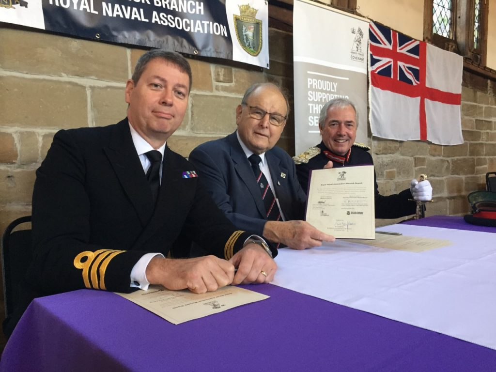 Royal Naval Association sign the Armed Forces Covenant