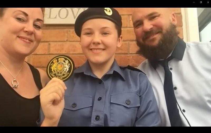 Telford & Wrekin Sea Cadet becomes one of the newest Lord Lieutenant's Cadets