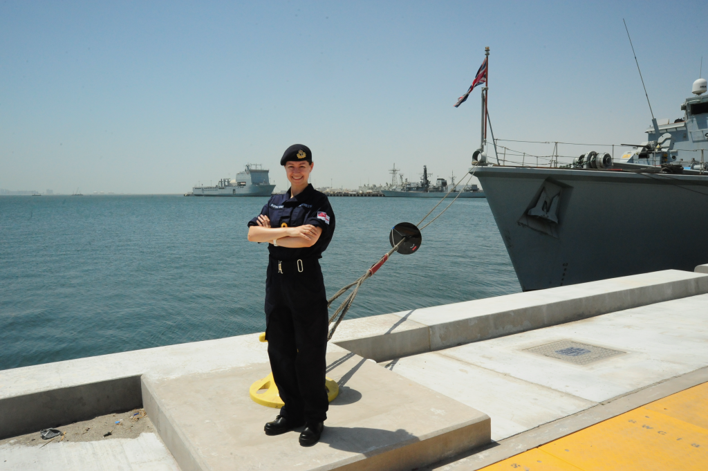 Lt Kertrestel is spending Reserves Day in Bahrain as part of hr 6 month mobilisation