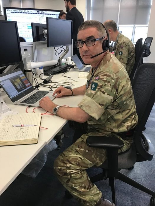 Major Knight mobilised as part of Covid-19 response effort