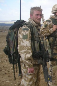 A Photograph of Chris Fraser on tour with the Royal Marine Commando