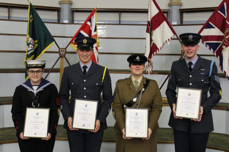 Outgoing Lord Lieutenants' Cadets for Herefordshre