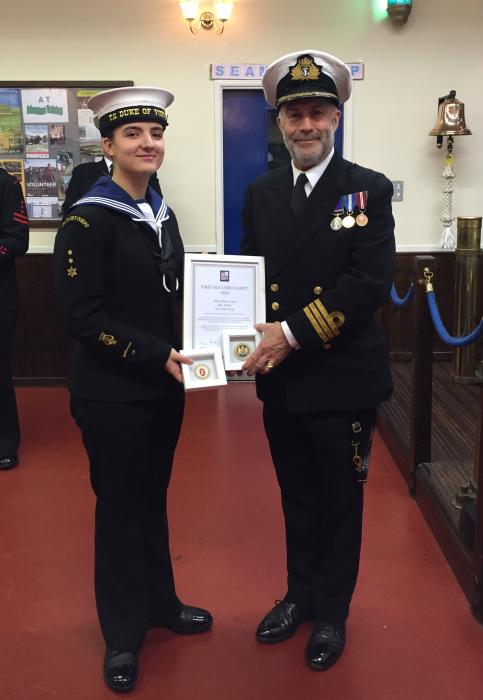 Petty Officer Cadet Tucker - Malvern Sea Cadet Corps