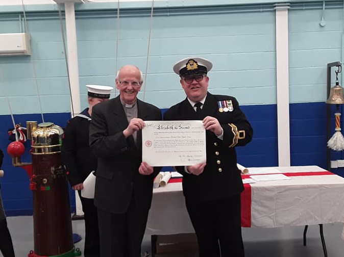 Chaplain Colin Leggate with Ross Sea Cadets