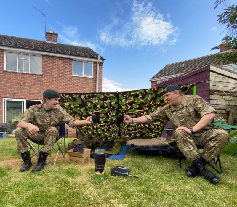 Hereford & Worcester Army Cadet Force father and son team up for the county's first virtual exercise