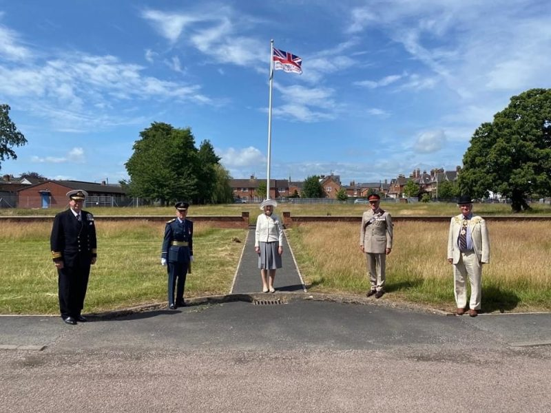 Herefordshire Armed Forces Day flag raising ceremony