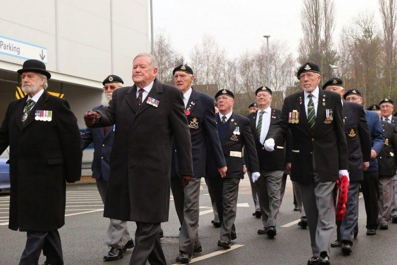 Veterans parade in Hednesford