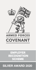 Employer Recognition Scheme Silver Award 2020 logo
