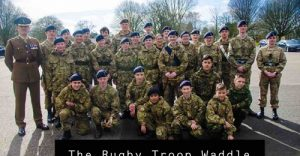 Group photograph of Rugby Troop