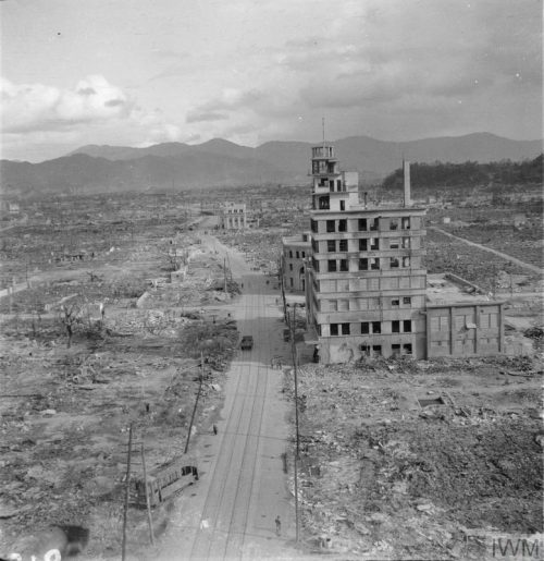 The aftermath of the atomic bomb, Japan 1945